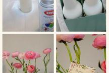 flowers vase diy