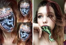 halloween and normal make up
