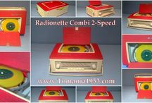 Radionette Vintage Radioes / Radionette Radioes + Combi Portable Radio with Record Player - Made in Norway
