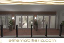 Exterior 3D Render Eliteline Mobiliario / Vista de Varanda em 3D modelado e renderizado por Eliteline Mobiliario