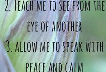 Affirmations, prayers...