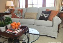 Annette's Linen Slipcover / I gave this old, outdated sleeper sofa an entirely new look with a custom linen slipcover. Oh-so French Country!