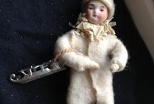 Christmas Vignette Antique Figurines