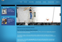Waterproofing Contractor Sites / Professional Websites for Waterproofing Contractors. Web Start Today helps you create a great impression on your prospects and customers with professional websites designed specifically for Waterproofing Contractors. Our easy to use Website Builder allows you to build a well-constructed, effective online presence in no time at all. / by Web Start Today, Inc.