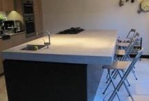 Keuken/ betonnen blad