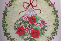 """XMAS 2016 colored pages / Third album, part of inspiration for """"Christmas coloring cards exchange"""" Bulgaria 2016"""