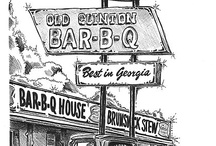 art:DRAWINGS & PAINTINGS (bbq,barbecue,barbeque) / Drawings and paintings in the BBQ world  (tags: BBQ, Barbecue, Barbeque, Bar-b-cue, Bar-b-que, B-B-Q, grill, grilling, campfire, chuckwagon, chuck wagon) / by BBQ Explorer