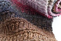 Knit scarves new stitches
