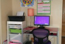 """At home Learning spaces / Ideas I love for Logan's """"school"""" room"""