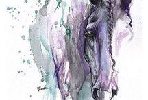 toile chevaux