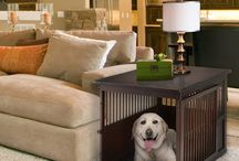 Dog Crates That Look Like Table Furniture / I love these fabulous dog and pet crates that look like real furniture and make great end tables!