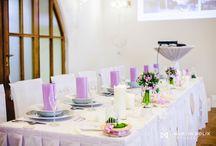krajková lila / Svatební stůl