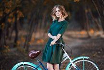 Biciklis portré