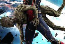 groot és spiderman