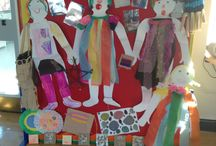 Kids cafe crafts  / Crafts made by Barton Clough primary school kids