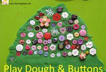 Play dough n buttons.