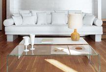 Mesas de vidro / Mesas de centro, laterais e aparadores.