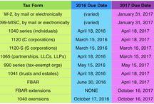 2017 Tax Return Deadlines