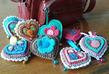 Hearts / Crochet knitting  sewing