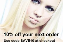 Discount Codes & Vouchers - Style Sanctuary Body Jewellery / Style Sanctuary is a jewellery retailer. We stock a huge range of jewellery and body jewellery.  Follow this board to receive all our latest promotions, freebies, discounts and voucher codes.  www.stylesanctuary.com