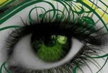 Green is the colour... / Green and beautiful eyes....