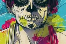 Dia de Los muertos & skulls  / by Sarah Alvarez