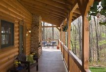 Log Home Porches / Honest Abe Log Homes invites you to come visit our log home porch and deck in Murfreesboro,TN. Log home porches invite fun and comfort and nostalgia of days gone by. We have many log home porch designs to choose from.