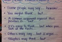 Sentence starter/phrases