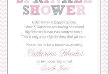 Baby Sprinkle or Shower