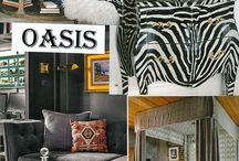 Oasis - Color Trend Fall 2016 / In what can sometimes seem like an endless re-interpretation of tribal and ethnic driven decorative approaches, Oasis further explores this core decorative trend. New this year is a strong movement toward sand colored neutrals, straw and camel complements, and burnished brass and golden accents. Giving them an edge and energy is the juxtaposition of charcoal and ebony, and an unexpected touch of deep cayenne.