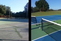 Wendell Park - Volunteer Project / North State Resurfacing took an opportunity to give back to the community by resurfacing a local tennis court - Wendell Park.