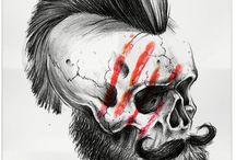 head/face/skull tattoos