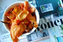 Gezonde snack / Gezonde snack recepten, van avocado dip tot wortel chips.