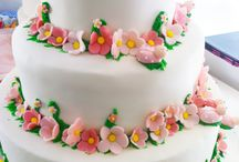 Bolo de Flores & Alegria da Natureza / Que tal um Bolo com Flores e Joaninhas?