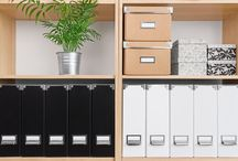 Home Office Organizing / Fun ways to organize your home office