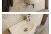 Hand rinse washbasins / Hand rinse washbasins for guest bathrooms, lavatories and other small bathrooms