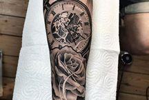 Pocketwatch tattoo