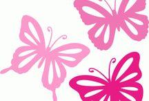 witraż motyle