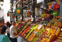 Food Markets in Madrid / A compilation of Madrid food #Markets in all their splendor #Vegetables #Fruits #Sea Food #Wines #Tapas