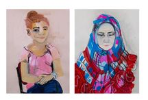 Zina Al Shukri / Zina Al Shukri was born in Baghdad, Iraq in 1978. She received her BA from the University of Arkansas at Little Rock, and attended the California College of the Arts, receiving her MFA in 2009.   While teaching in Diyarbakir, Turkey in 2011.  Zina Al-Shukri created portraits of her young female Turkish students, ages 15 – 19. Two portraits were composed of each girl, one with a hair covering called a Hijab (Arabic), or Eşarp (Turkish), and another without.