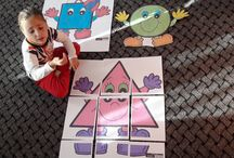 Geometric forms, activities for kids