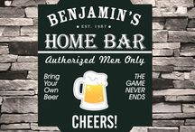 Personalized Bar Signs for Groomsmen / Groomsshop.com has a huge  selection of personalized bar signs, tavern signs and personalized man cave signs for your groomsmen.   Most of our art is original and exclusive to us. These personalized bar signs are very unique and make fantastic gifts your groomsmen will love! Email us at gssupport@groomsshop.com!