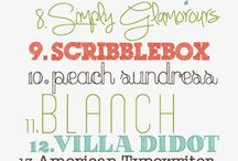 Fabulous Fonts! / A collection of fabulous fonts found online.  Most are free but some are for charge.  I love browsing different fonts for inspiration!   / by Cheryl {thatswhatchesaid.net}