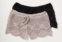 Pantalones cortos de ganchillo