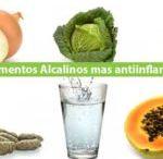 Alimentos alcalinos antiiflamatorios