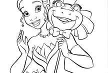 Princess And The Frog Coloring Page