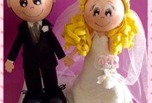 Fofuchos celebraciones / Fofuchas personalizadas para cualquier evento...bodas,comuniones, aniversarios.