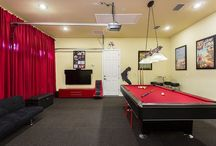 Awesome Game Rooms / Homes that have amazing game room for that extra family fun in your vacation rental!