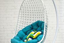 hanging chairs / kursi gantung, kursi ayunan, sofa gantung,