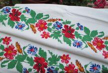 hand embroiderd pure linen towel